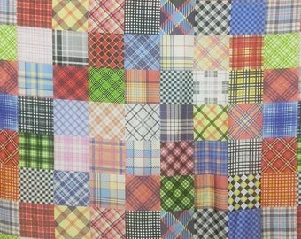 Patch work print 30D Polyester Poly Silky Patterned Chiffon Fabric Material For Dress Cloth Skirt scarf 30D-71003 By The Yard