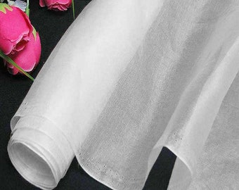 140cm Wide Bright White 100% Real Mulberry Silk Organza Fabric Natural Silk Material (QI Za SnowW X Yards / Meters)