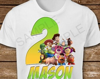ON SALE 30% Toy Story Iron On Transfer. Toy Story Birthday Boy Iron On Transfer. Toy Story Birthday Boy Iron On T-Shirt Printable.