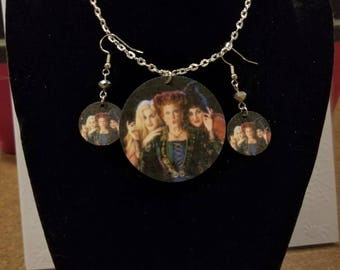 Hocus Pocus Necklace and Earrings