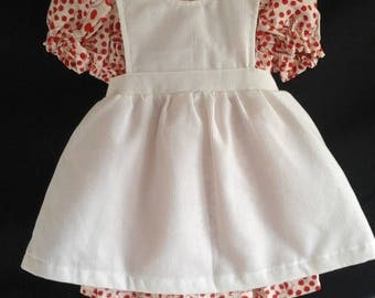 Little girls dress and pinafore set