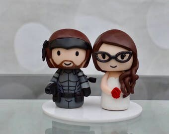 Metal Gear Solid wedding cake toppers