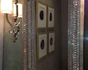 Last Call Liquidation!! 18000 XLarge Deluxe Venetian Mirror Adorned with Swarovksi Crystals