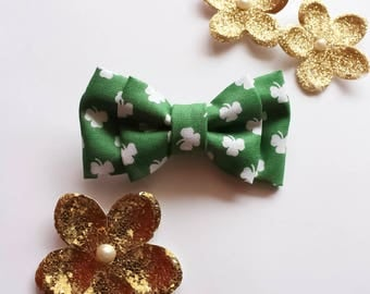 St Patty's Day bow tie - clip on bow tie - green bow tie - st patrick's day bow tie - baby bow tie - toddler bow tie - adult bow tie