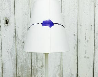 Small 'Anna' Hand-painted Lampshade- Blue