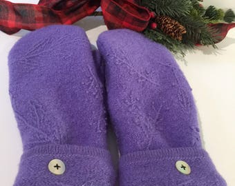 Wool Recycled Mittens