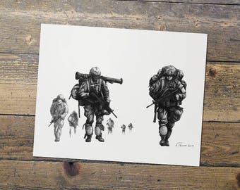 Light Fighters - US Army - Military Art - Infantry Print - Gift for Him