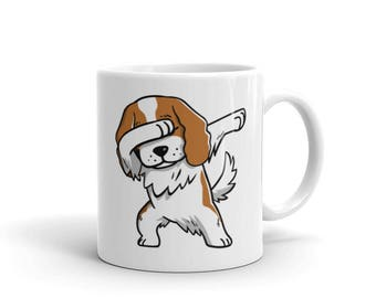 Cute Dabbing Cavalier King Charles Spaniel Mug Funny Dab Dance Dog Gift