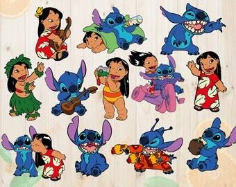 Lilo And Stitch Svg, Stitch Cutfiles, Lilo And Stitch Svg, Dxf, Eps & Png Clipart, Lilo and stitch for Cricut, Silhouette, Ohana svg