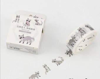 Racoon Washi Tape Masking adhesive tape