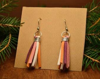 Multicolor tassel earrings, bohemian earrings, boho tassel earrings, hippie earrings, colorful tassel earrings, earrings, gift for her