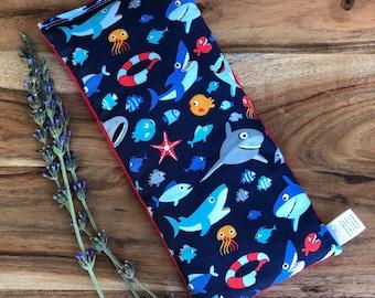 Easter Basket Gift - Easter Stuffer - Shark Gift for Child - Microwave Bean Bag - Bean Bag Heating Pad - Sensory Toy - Microwaveable Pack