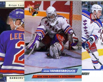 NEW YORK RANGERS Hockey Team Lot - 150 Assorted Cards