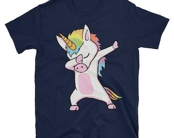Cute Unicorn Dabbing Dab Dance Short-Sleeve Unisex T-Shirt