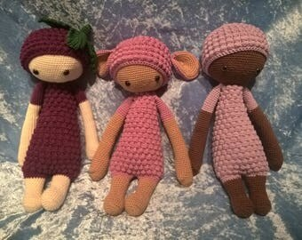 Crochet doll, lamb