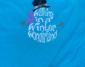 Walking in a winter wonderland pocket T