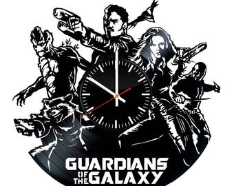 Guardians of the Galaxy Vinyl Record Wall Clock - Get unique home wall decor - Gift ideas for men and women