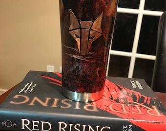 "Red Rising ""Howler"" Themed Tumbler"