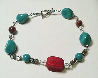 Turquoise with a Hint of Red
