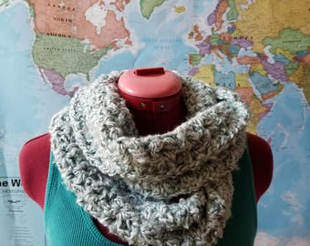 Infinity Scarf, Crochet Scarf, Cowl, Handmade Scarf, Gift for Her, Lace scarf