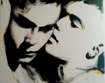 Artwork by Stefano Pietrovecchio. Oil and chalk.