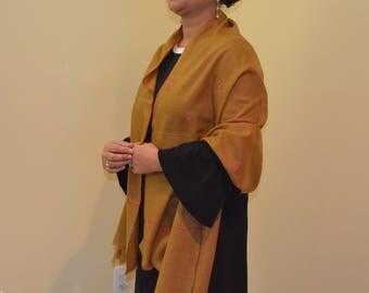 Hand-woven, Hand-spun & Hand-embroidered Pashmina Wraps
