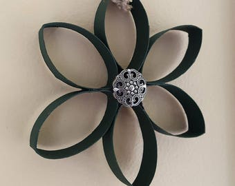 Christmas Ornament Jeweled Flower