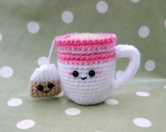 Cup of Tea for mum! Crochet Amigurumi Kawaii Play Food