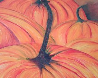 Pumpkin Feast Watercolor Painting
