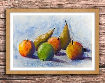 Pears - Fine Art Print of Soft Pastel Painting