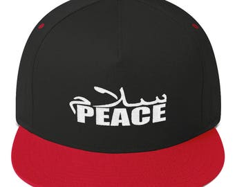 Peace Flat Bill Cap