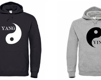 Yin Yang couple hoodies. One cannot exist without other.