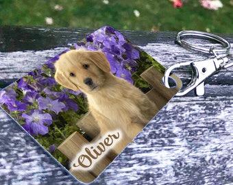 Dog key chain, Photo Key chains, Sublimation Key chains, pet photo Key chains