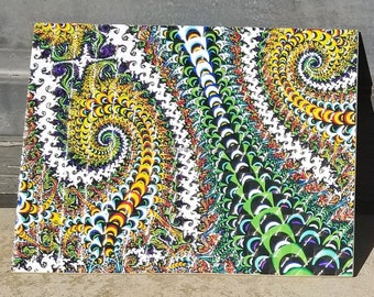 QuantileDesigns Vinyl 'Frameless' Fractal Art.