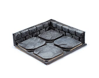 Dungeons and Dragons terrain dungeon corner tile DnD pathfinder dungeon corner tiles campaign map accessories decor