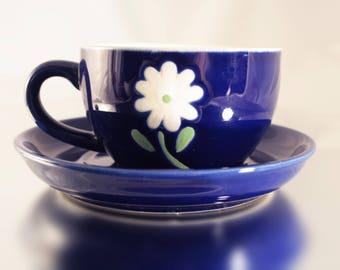 China Tea Cups, Porcelain Cup, Tea Drinkware, Floral Teacup, Gift Idea, Tea Service, Blue Cup, Fine Porcelain, China Tea Set, Vintage Teacup