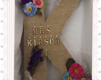 Customer letter K flower DIY
