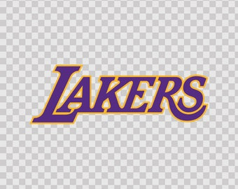 Decals Stickers Los Angeles Lakers Nba Basketball Bumper 80087