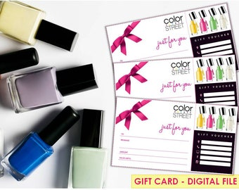 Color Street gift card, Digital-Printable- Color street Business, Color Street certificate , Color Street marketing