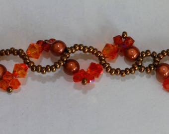 Swarovski Crystal adjustable bracelet entirely beads nickel free
