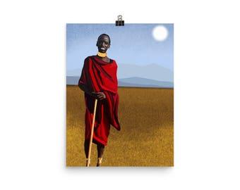 Massai Poster