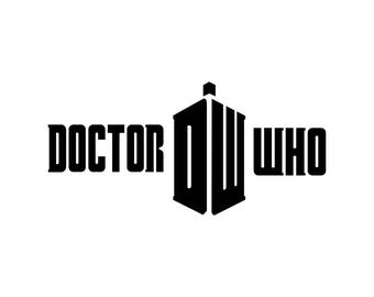 Doctor Who Tardis Sign logo Graphics SVG dxf eps png cdr ai pdf Vector art Clipart instant download Digital Cut Print files