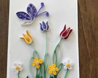 Handmade Quilled Card
