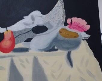 Georgia O'Keefe like Acrylic painting