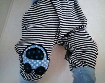 """Baby bloomers, Pants """"car"""" from Jersey in Gr. 50/56 to 86/92"""