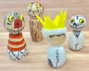 Where The Wild Things Are Wooden Peg Toys