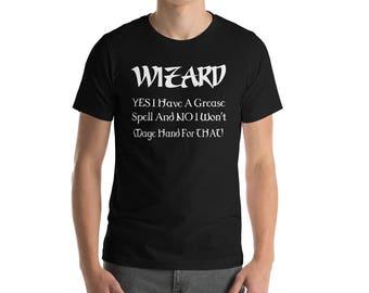 Wizard Funny Spell Casting Gaming Shirt