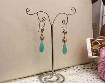 Beautiful earrings in vermeil and chalcedony