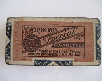Weinberg's Special No 2 Turkish Cigarette Tin (50/empty) c.1920/40