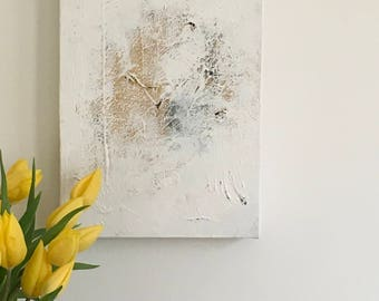 White 8 - Abstract painting, acrylic on canvas, white textured, original painting, painting on canvas, wall art, contemporary painting